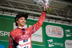 Coryn Rivera (USA) at OVO Energy Women's Tour 2018 - Stage 3, a 151 km road race from Atherstone to Leamington Spa, United Kingdom on June 15, 2018. Photo by Sean Robinson/velofocus.com