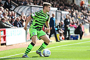 Forest Green Rovers Kyle Taylor(28),on loan from Bournemouth on the ball during the EFL Sky Bet League 2 match between Cambridge United and Forest Green Rovers at the Cambs Glass Stadium, Cambridge, England on 7 September 2019.