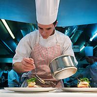 Restaurante la Pyramide, 2 estrellas Michelin.Vienne.<br /> Rhone Alpes, Francia.