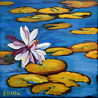 """6""""h x 6""""w, Oil on Linen Canvas"""