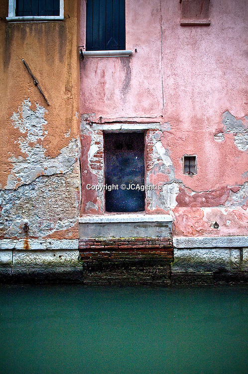 Colorful buildings on the canals of Venice, Italy