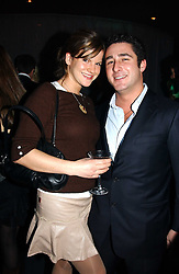 LUCA DEL BONO and KATE SUMNER daughter of singer Sting at a party hosted by Panerai and the Baglioni Hotel, 60 Hyde Park Gate, London on 6th December 2004.<br />