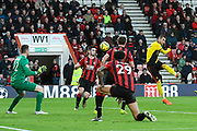 Goal - Roberto Pereyra (37) of Watford scores a goal to give a 0-3 lead during the Premier League match between Bournemouth and Watford at the Vitality Stadium, Bournemouth, England on 12 January 2020.