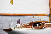 6 Meter class Clarity racing at the Robert H. Tiedemann Memorial Regatta, hosted by the Museum of Yachitng.