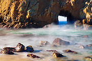 Window to the world arch, Pfeiffer Beach, Big Sur, California