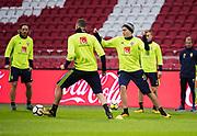 AMSTERDAM, NEDERL&Auml;NDERNA - 2017-10-09: Victor Linedl&ouml;f under tr&auml;ning inf&ouml;r FIFA 2018 World Cup Qualifier mellan Nederl&auml;nderna och Sverige p&aring; Amsterdam ArenA  den 9 oktober, 2017 i Amsterdam, Nederl&auml;nderna. <br /> Foto: Nils Petter Nilsson/Ombrello<br /> ***BETALBILD***