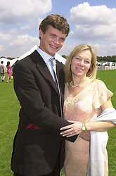 MR JACK KIDD and his fiance MRS BE KEMENY, at a polo match in Berkshire on 30th July 2000.OGN 155