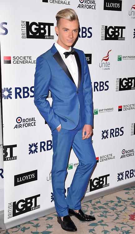 Harry Derbidge attends The British LGBT Awards at The Landmark Hotel, London on Friday 24 April 2015