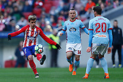 Atletico Madrid's French forward Antoine Griezmann kicks the ball during the Spanish championship Liga football match between Atletico de Madrid and RC Celta on March 11, 2018 at the Wanda Metropolitano stadium in Madrid, Spain - Photo Benjamin Cremel / ProSportsImages / DPPI