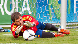 24.05.2012, Sportplatz Golm FC Schruns, Schruns, AUT, UEFA EURO 2012, Trainingslager, Spanien, im Bild Iker Casillas ESP Iker Casillas of Spain during of Spanish National Footballteam for preparation UEFA EURO 2012 at Sportplatz Golm FC Schruns, Schruns, Austria on 20120524. EXPA Pictures © 2012, PhotoCredit EXPA/ Peter Rinderer
