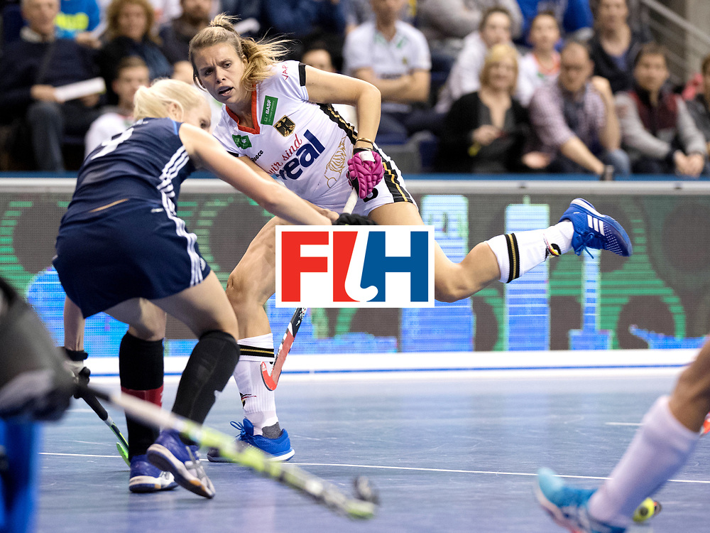 BERLIN - Indoor Hockey World Cup<br /> Semi-final: Belarus - Germany<br /> foto: Anne Schroeder.<br /> WORLDSPORTPICS COPYRIGHT FRANK UIJLENBROEK