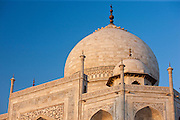 The Taj Mahal mausoleum eastern view detail, Uttar Pradesh, India