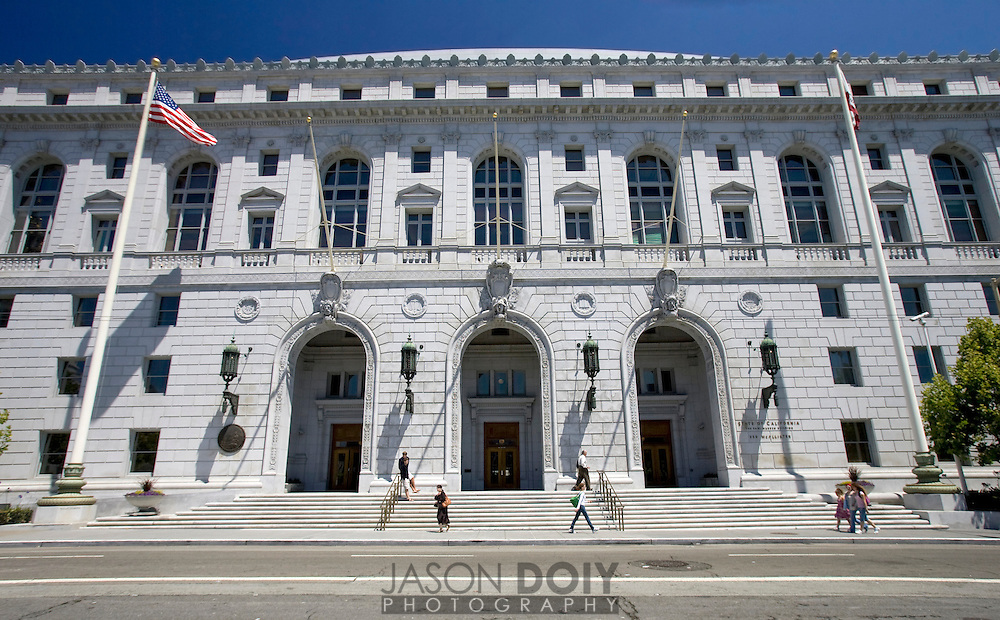 California State Building, Supreme Court, Civic Center, San Francisco..Photo by Jason Doiy.6-30-08
