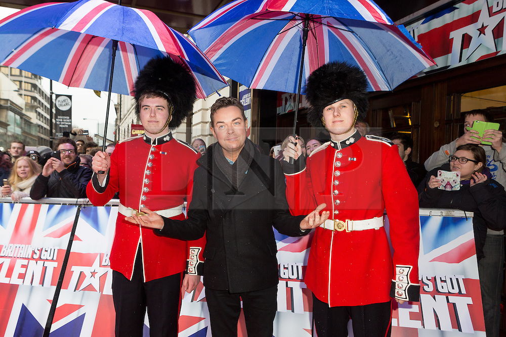 """© Licensed to London News Pictures. 22/01/2016. London, UK. Stephen Mulhern arrives at The Dominion Theatre in London for the """"Britain's Got Talent"""" auditions. Photo credit : Vickie Flores/LNP"""