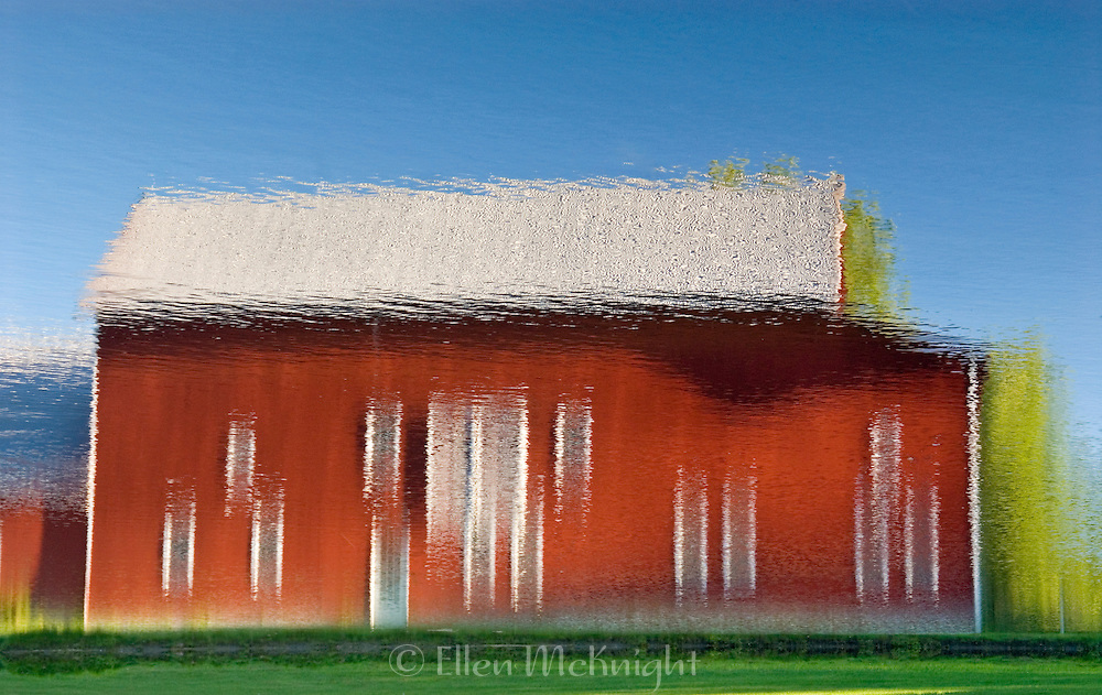 Barn Reflection (Inverted) in Columbia County, New York