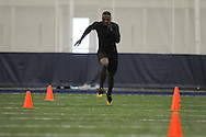 Mississippi football player Johnny Brown at Pro Day in the IPF in Oxford, Miss. on Tuesday, March 22, 2011.