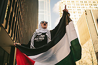&quot;America in the Middle&quot; is a collection of images showing communities and individuals personally affected by policies but often-overlooked by politicians. |||<br /> <br /> Yasmeen Elagha holds Palestinian flags as she cheers on the Women's March on Chicago. &quot;I know this is a women's march, and as a woman, I want to fight for those rights, but I also want to bring awareness of the Middle Eastern struggle, of the Palestinian struggle, of the Muslim struggle, especially as a veiled woman. My representation here is to let people know that I stand with them, so I would like them to stand with me,&quot; Yasmeen Elagha said.<br /> <br /> Chicago Freelance Photographer | Alyssa Schukar | Photojournalist