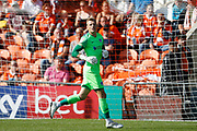 Craig MacGillivray of Portsmouth during the EFL Sky Bet League 1 match between Blackpool and Portsmouth at Bloomfield Road, Blackpool, England on 31 August 2019.