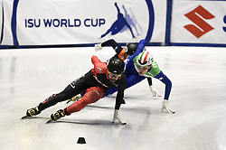 February 8, 2019 - Torino, Italia - Foto LaPresse/Nicolò Campo .8/02/2019 Torino (Italia) .Sport.ISU World Cup Short Track Torino - 1500 meter Men Quater Finals.Nella foto: Charles Hamelin, Tommaso Dotti, Friso Emons..Photo LaPresse/Nicolò Campo .February 8, 2019 Turin (Italy) .Sport.ISU World Cup Short Track Turin - 1500 meter Men Quater Finals.In the picture: Charles Hamelin, Tommaso Dotti, Friso Emons (Credit Image: © Nicolò Campo/Lapresse via ZUMA Press)