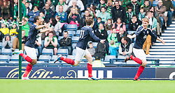 Falkirk's Jay Fulton celebrates after scoring their second goal..Hibernian 4 v 3 Falkirk, William Hill Scottish Cup Semi Final, Hampden Park...