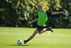 CARDIFF, WALES - Tuesday, August 31, 2010: Wales' Steve Morison during training at the Vale of Glamorgan ahead of the UEFA Euro 2012 Qualifying Group 4 match against Montenegro. (Pic by David Rawcliffe/Propaganda)