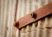 rusted hinge & nuts