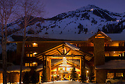 The Snake River Lodge & Spa at Jackson Hole Mountain Resort, Jackson Hole, Wyoming.