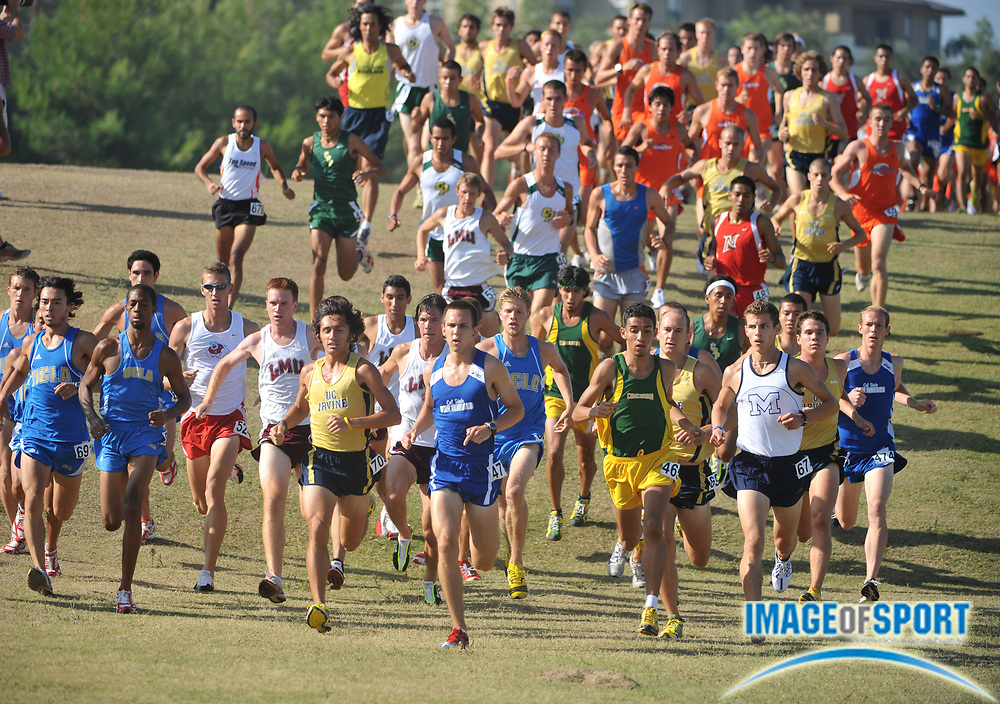 "Sep 6, 2008; Irvine, CA, USA; The lead pack in the mens ""A"" race in the UC Irvine Invitational at the Anteater Recreation Center Fields."