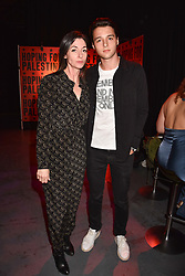 """Mary McCartney and her son Arthur Donald at """"Hoping For Palestine"""" Benefit Concert For Palestinian Refugee Children held at The Roundhouse, Chalk Farm Road, England. 04 June 2018. <br /> Photo by Dominic O'Neill/SilverHub 0203 174 1069/ 07711972644 - Editors@silverhubmedia.com"""