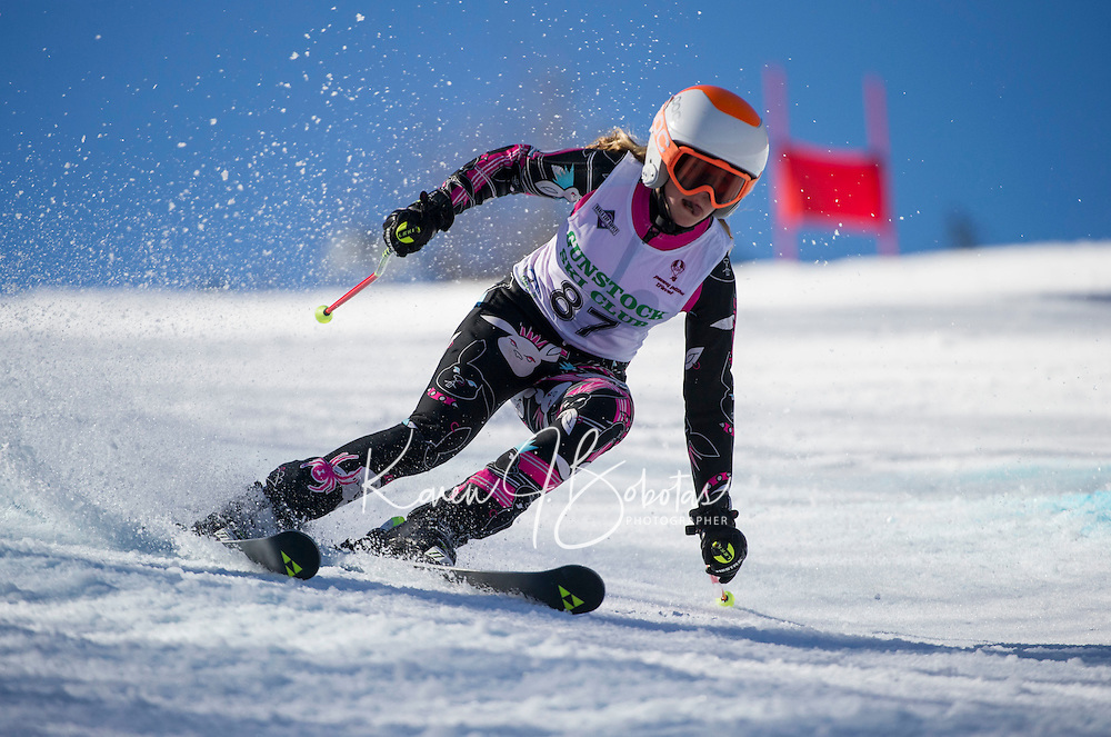 Piches Invitational U12 ladies Giant Slalom with Gunstock Ski Club.  ©2016 Karen Bobotas Photographer