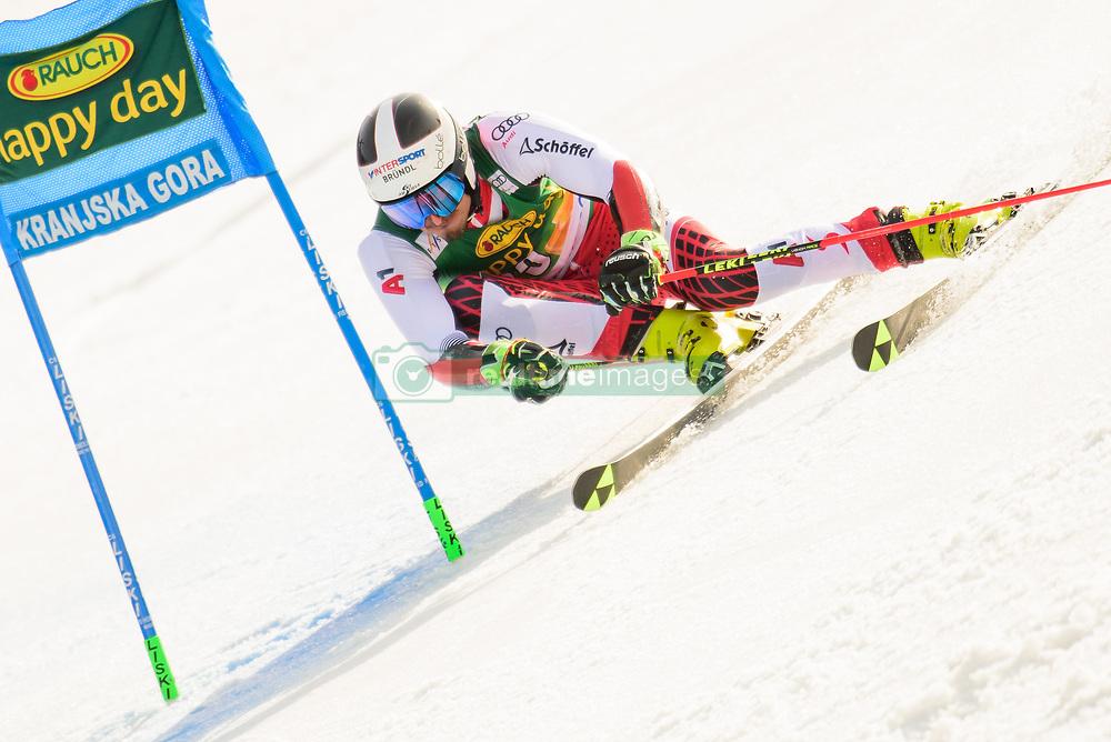 March 9, 2019 - Kranjska Gora, Kranjska Gora, Slovenia - Stefan Brennsteiner of Austria in action during Audi FIS Ski World Cup Vitranc on March 8, 2019 in Kranjska Gora, Slovenia. (Credit Image: © Rok Rakun/Pacific Press via ZUMA Wire)