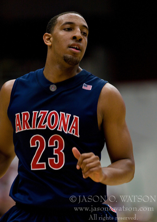 February 27, 2010; Stanford, CA, USA;  Arizona Wildcats forward Derrick Williams (23) during the second half against the Stanford Cardinal at Maples Pavilion.  Arizona defeated Stanford 71-69.