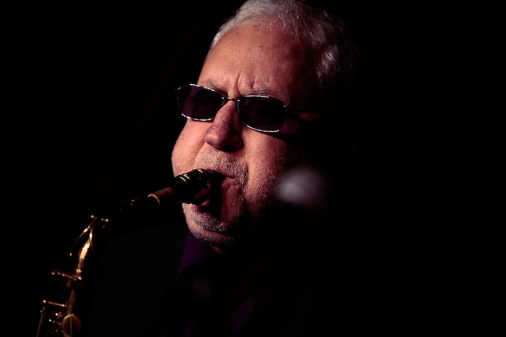 Saxophonist Lee Konitz performs at the Village Vanguard on March 31,  2009 in New York City. photo by Joe Kohen for The New York Times