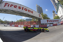 March 11, 2018 - St. Petersburg, Florida, United States of America - March 11, 2018 - St. Petersburg, Florida, USA: SŽbastien Bourdais (18) takes to the track for the Firestone Grand Prix of St. Petersburg at Streets of St. Petersburg in St. Petersburg, Florida. (Credit Image: © Walter G Arce Sr Asp Inc/ASP via ZUMA Wire)