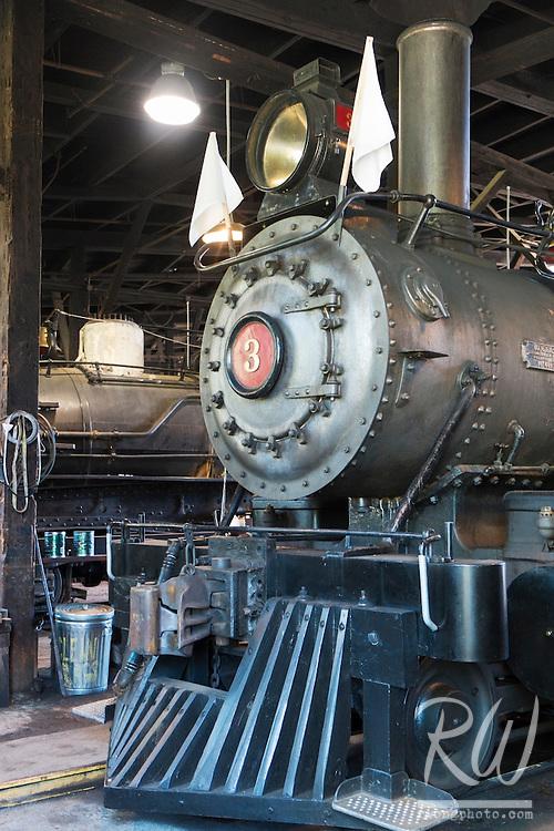 Sierra Railway Locomotive at Railtown 1897 SHP, Jamestown, California