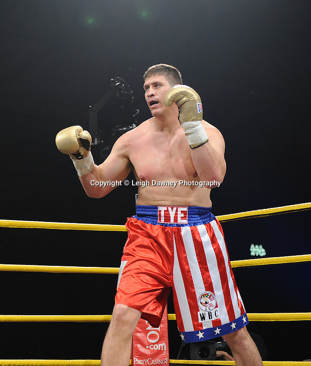 Tye Fields pictured whilst boxing Michael Sprott in Quarter Final 3 at Prizefighter International on Saturday 7th May 2011. Prizefighter / Matchroom. Photo credit © Leigh Dawney. Alexandra Palace, London.