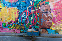 Cartagena , Colombia  - March 9, 2017 : Street Arts in the Colorful streets of Getsemani<br /> area of Cartagena de los indias Bolivar in Colombia South America