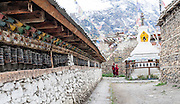 Prayer wheels in Manang (Nepal)
