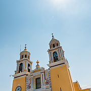 Exterior of Nuestra Señora de los Remedios church in Cholula, Mexico