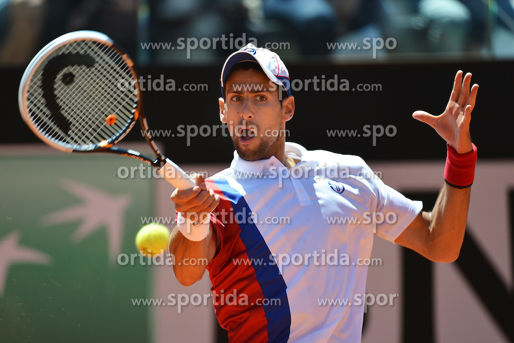 17.05.2012, Foro Italico, Rom, ITA, ATP World Tour, Internationali BNL d Italia, im Bild Novak Djokovic of Serbia // during the ATP World Tour, Internationali BNL d Italia at the Foro Italico, Rome, Italy on 2012/05/17. EXPA Pictures © 2012, PhotoCredit: EXPA/ Insidefoto/ Andrea Staccioli..***** ATTENTION - for AUT, SLO, CRO, SRB, SUI and SWE only *****