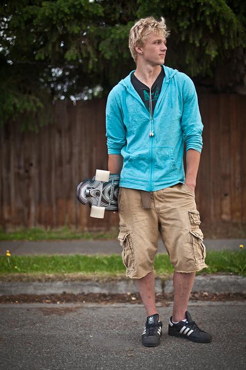 6.27.2012  Skateboarder, Kris Roylance, South Addition, Anchorage