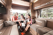 Family in luxury motorhome