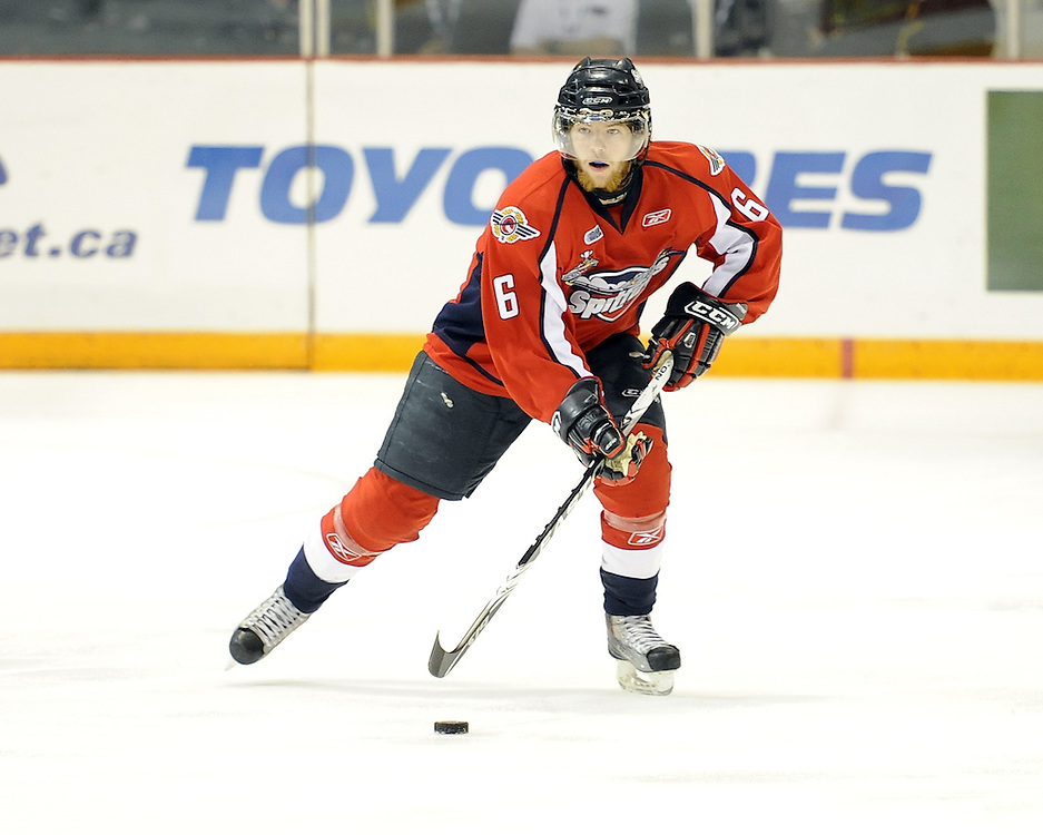 Ryan Ellis of the Windsor Spitfires in Game 4 of the 2010 MasterCard Memorial Cup in Brandon, MB on Monday May 17. Photo by Aaron Bell/CHL Images
