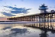 San Clemente Pier Fall Sunset and Low Tide