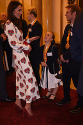October 18, 2016 - London, United Kingdom - UK OUT Image licensed to i-Images Picture Agency. 18/10/2016. London, United Kingdom. The Duchess of Cambridge at a reception for Team GB and ParalympicsGB medallists from the 2016 Olympic and Paralympic Games at Buckingham Palace in London. Picture by ROTA / i-Images  UK OUT (Credit Image: © Rota/i-Images via ZUMA Wire)