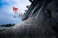 BMX Cycling, Men, Stunt, Bridge, Jumping, Skill, Risk,