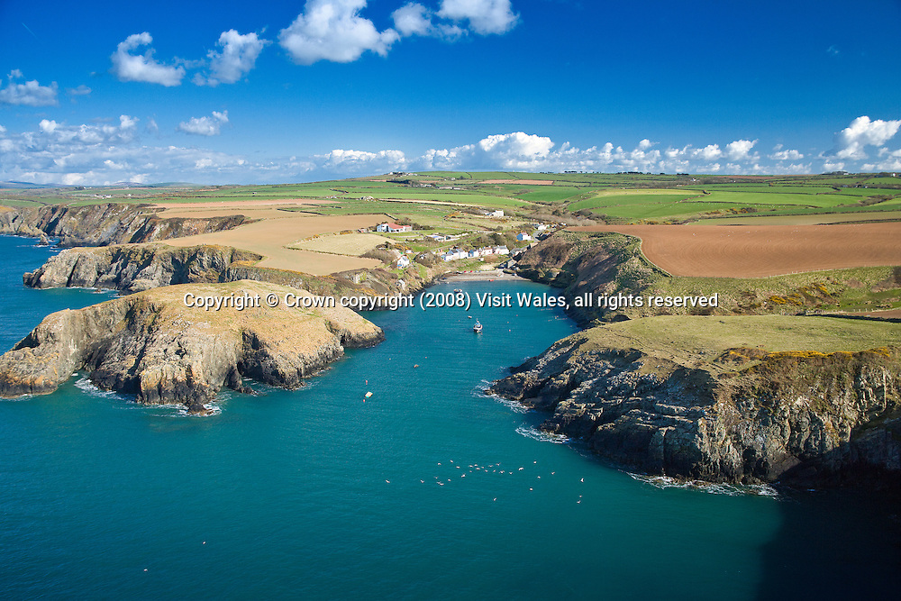 Abercastell (Abercastle)<br /> Aerial<br /> Pembrokeshire<br /> South<br /> Towns &amp; Villages