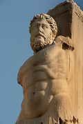 ATHENS, GREECE - APRIL 17 : A detail of a colossal statue of the Tritons and Giants of the Gymnasium, on April 17, 2007, in Athens, Greece. The Gymnasium or Palace of the Giants was built between 410 and 530 AD on the former Odeion of Agrippa (1st century BC) in the ancient Agora of Athens. (Photo by Manuel Cohen)