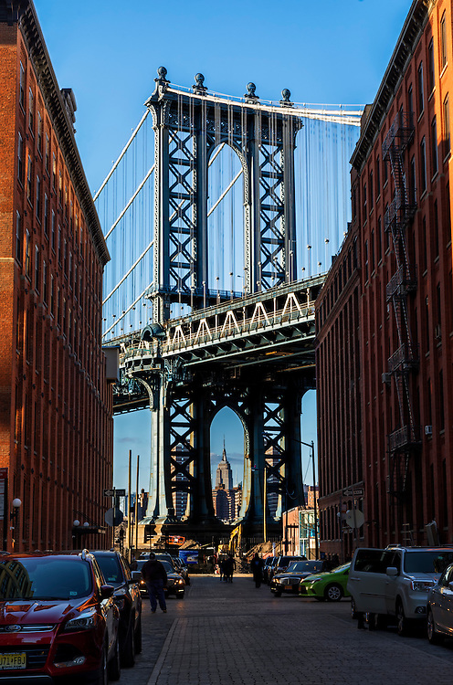 The Manhattan Bridge, DUMBO, Brooklyn, NY.