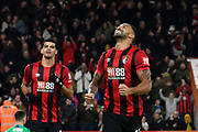 Goal - Callum Wilson (13) of AFC Bournemouth celebrates after he scores a goal to give a 2-0 lead during the The FA Cup match between Bournemouth and Luton Town at the Vitality Stadium, Bournemouth, England on 4 January 2020.